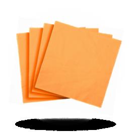 Servietten 33x33cm 3-lg. Orange