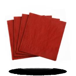 Servietten 40x40cm 3-lg. Velvet bordeaux red