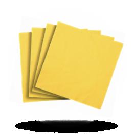 Servietten 40x40cm 3-lg. Sun yellow