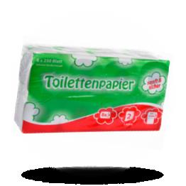 Toilettenpapier 250 Blatt, zweilagig