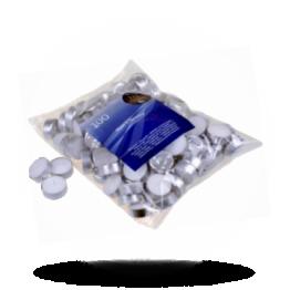 Teelichter Weiß mit Hülse
