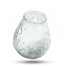 Tischkerzen im Glas 100x105mm weiß