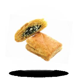 Mini Käse-Spinat Teichtaschen Griechisch, Blätterteig, pro 34g verpackt, tiefgefroren