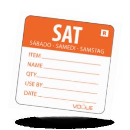 Kodesticker Samstag Orange