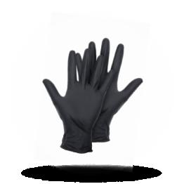 Latex Handschuhe Schwarz, Größe S