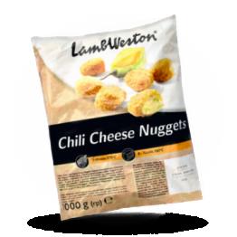Chili Cheese Nuggets Würzige Käse und Jalapno Snack, tiefgekühlt