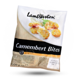 Camembert Bites Knusperige Camembert Snack, tiefgefroren
