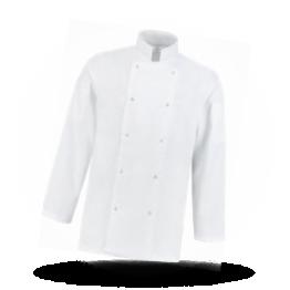 Kochjacke Weiß, Langarm, Größe XXL