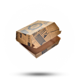Hamburgerbox Karton, 13x13x7,5cm