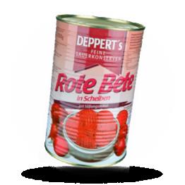 Rote Beete Scheiben, tafelfertig.
