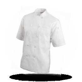 Kurzarm Kochjacke Weiß, Größe M
