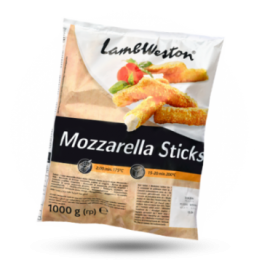 Mozzarella Sticks Mozarellasnack mit Panade, tiefgekühlt