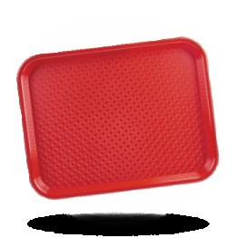 Tablett rot 34,5x26,5cm