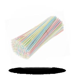 Milchshake-Strohhalme Verschiedene Farben, 25cm, Ø 8mm