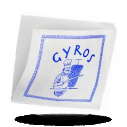 Gyros Tüten Kraft bedrückt, 16x16cm
