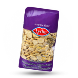 Halbierte Saubohnen Hülsenfrüchte, getrocknet