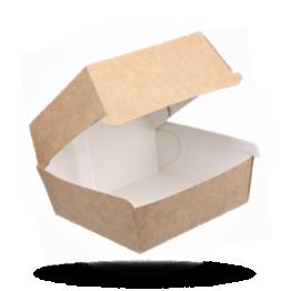 Hamburgerbox Karton, Kraft Braun, 11,5x11,5x8cm
