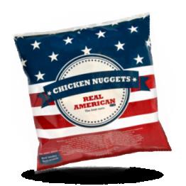 Chicken nuggets Halal Herzhafte knuspriche Hänchensnack, tiefgefroren