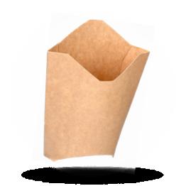 Frietscoop Karton, Kraft Braun
