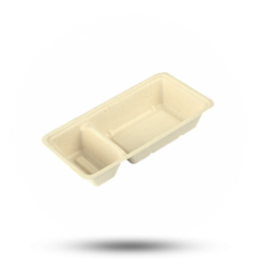 Snack Schale A22 (A9+1), bagasse