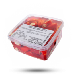 Gefüllte Mini-Paprika Käse